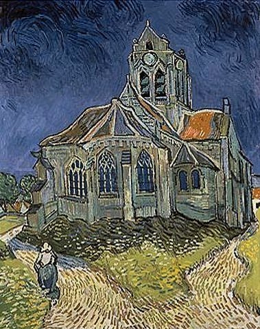 The Church at Auvers-sur-Oise (1890) - 9130
